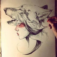 wolf totem drawing