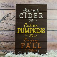 The Wood Connection - Fall Slat Sign, $14.90 (http://thewoodconnection.com/fall-slat-sign/)
