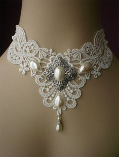 Victorian take on the choker -- link is broken. This choker is the closest I could find to the picture: http://www.etsy.com/listing/120675794/sale-gorgeous-large-white-venise-lace?ref=shop_home_active