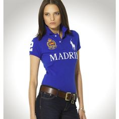 af7829429e22f Ralph Lauren Women MADRID Blue Big Pony Polo http   www.ralph-
