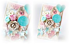 Anna Hababicka created the most stunning card! With resist canvas and our new watercolor pencils you can customize so many Prima elements for any project you want to create. Here's how Anna created the stunning pops of turquoise!