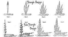 Triangle design rose arrangements