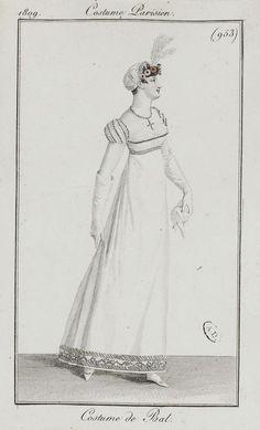 Journal des dames et des modes / Costume Parisien: 10 Fevrier, 1809 (b)