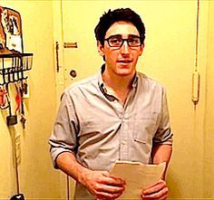 he wears glasses which is just amazing. I wear glasses. shitty eyesight for the win. Newsies Broadway Cast, Broadway Theatre, Musical Theatre, Broadway Shows, Ben Fankhauser, Music Express, I Love My Son, Lin Manuel Miranda, Love Affair