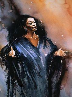 Jessye Norman: Perryman paintings
