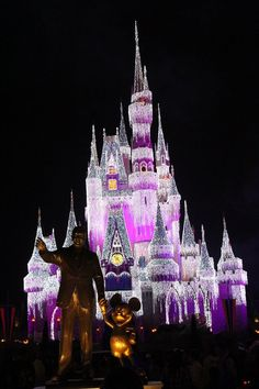 From Member Lori M. It's hard to believe that Disney World's Magic Kingdom can get any more stunning. #Christmas