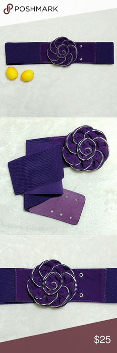 """Retro Purple Velvet Zipper Pin Up Statement Belt -Excellent used condition- slight rubbing of velvet (no noticeable)  Please use measurements for best fit, all measurements are taken laying flat: -Length 32"""" (unstretched) -Width 3"""" -Best fit M/L -Royal Purple (colors' appearance may vary on screen)  Questions? Just ask! Bundle to save!  Offers welcome  Happy Poshing! Accessories Belts"""