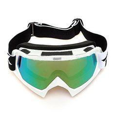 Lunettes de ski - TOOGOO(R) Lentille unique motocross goggles lunettes de  ATV cross-country dirt velo moto ski argent a4564227a53c