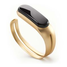 Mira Fitness Tracker and Bracelet Brushed Gold Side View