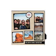 Full Of Adventure Desktop Plaque, Rectangle, 5 x 5 inches, Beige