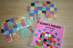 i <3 elmer! can use this to spice up the writing about friendship display in the hallway :)