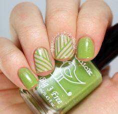 Spring Striping Tape Nail Art - The Nail Polish Challenge