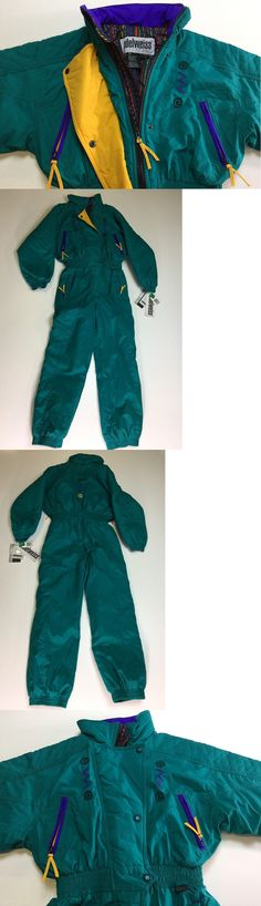 Snowsuits 62178: Edelweiss Skiwear Ski Suit Junior L 12 14 Girls Snowboard 1 Pc Vtg 80S 90S Nwt -> BUY IT NOW ONLY: $169.99 on eBay!