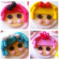 Lalaloopsy Assorted Dolls Cupcake Toppers by ClaudiaCupcakeLady, $18.00  @Stephanie Kennedy