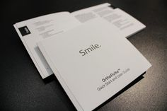 Square, perfect-bound user guides @OrthoPulse.