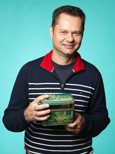 En dekorativ plåtburk blev ett av dagens fynd för Terje Andersson från Taxinge, pris 50 kr.