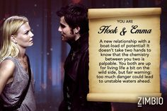Hook and Emma - Which 'Once Upon a Time' Couple Is Most Like Your Relationship? - Zimbio