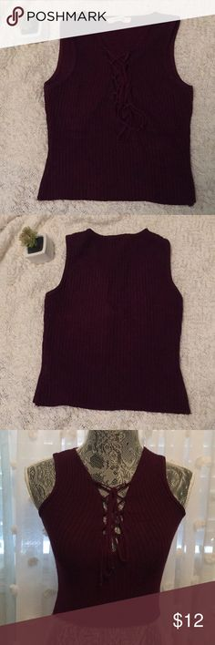 Maroon Halter Crop Top Pre-used but in AWESOME condition One of my favorite shirts by far Super comfy!!!  Let me know if you have any questions ♥️ Fashion Q Tops Crop Tops