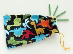 Dinosaur Party Favor Bags / Fabric Birthday by InchwormGoodyBags, $21.00