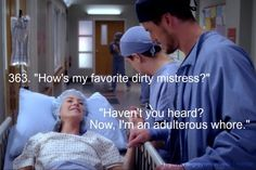 My Favorite Grey's Moments - Grey's Anatomy another reason I love this show Greys Anatomy Funny, Grays Anatomy Tv, Grey Anatomy Quotes, Anatomy Humor, Derek Shepherd, Meredith Grey, Tv Show Quotes, Movie Quotes, Grey's Anatomy Wallpaper