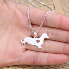 Dachshund Love Necklace
