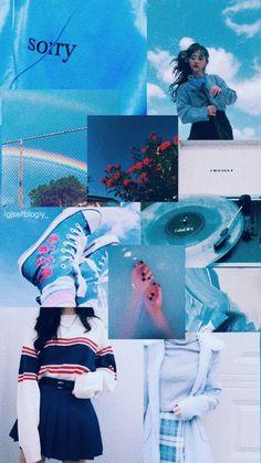 Blue Aesthetic Pastel, Aesthetic Pastel Wallpaper, Aesthetic Colors, Aesthetic Collage, Aesthetic Backgrounds, Aesthetic Pictures, Aesthetic Wallpapers, Iphone Wallpaper Vsco, Mood Wallpaper