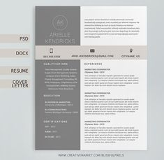 Resume Template   The  Audrey    Modern Resume Design   Instant MS     Resume Template   The  Audrey    Modern Resume Design   Instant MS Word  Download   Resume   Cover Letter Template   Mac Compatible   The Graphics