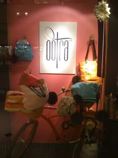 my first window display...with my bike...i love!! so much personality...