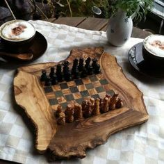 wish my nephews wood teach me how to play on this chess board