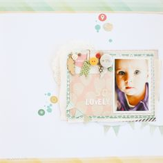 #papercraft #scrapbook #layout    So lovely by Elena at @Studio_Calico
