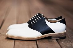 black & white saddle shoes from Band of Outsiders