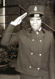 """I didn't set out to make history; I just wanted a change of direction."" Portrait of Sislin Fay Allen, Britain's first black policewoman, London, England, United Kingdom, 1968, photographer unknown."