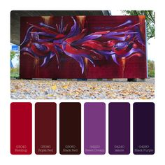 Color scheme purple/violet-red  Montana Gold 400ml G4220-G4260 Montana Gold 400ml G3040-G3085 Montana Gold 400ml T9000  Montana Gold 400ml SH9100  3D Graffiti by Sekah-Siff
