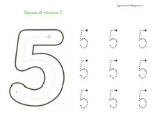 18 FICHAS NUMERO 5 Kids Learning Activities, Toddler Activities, Numbers Preschool, Handwriting Worksheets, Kids Poster, Early Education, Home Schooling, Kindergarten Worksheets, Lesson Plans