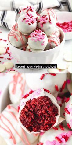 Valentine Desserts, Mini Desserts, Just Desserts, Delicious Desserts, Yummy Food, Valentines, Cake Ball Recipes, Cake Truffles, Cheesy Recipes