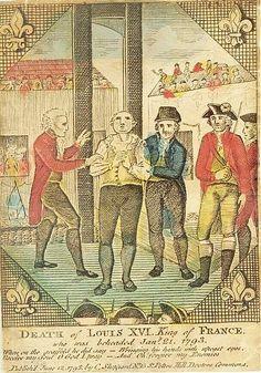 Ejecución de Louis XVI. Grabado de 1798.