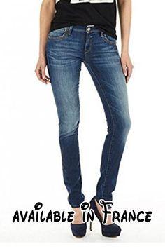 B01JA0244K : Mavi Jeans Pour Femmes Modèle Nicole; 1087215502 Mi Taille Skinny - Vrai Bleu Genova Femme 31W / 30L.