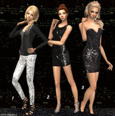 The Sims 2 Modern Style: Clothes - holiday