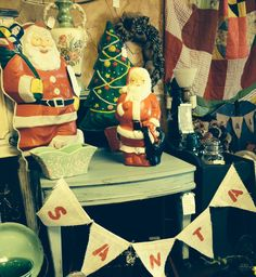 Vintage christmas decor, Santa Claus