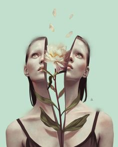 New Illustrations by Aykut Aydogdu Turkish illustrator Aykut Aydoğdu is one of those artists who's been frequently added to our illustration galleries over the years. Since we more or less have shown his pieces one by one, we've never… Surreal Artwork, 3d Artwork, Artwork Design, Art Design, Fantasy Artwork, Artwork Ideas, Surreal Portraits, Unique Paintings, Artwork Pictures