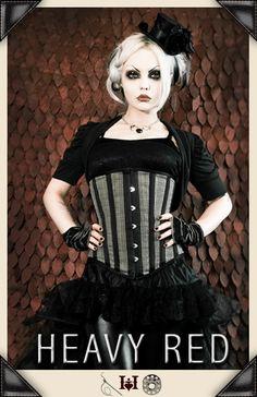 Victorian Ream Plaid Waist Gothic Corset