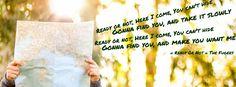 Couverture facebook avec citation d'une chanson sur une photo unsplash - créée sur canva