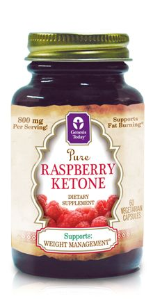 Genesis Today's™ Pure Raspberry Ketone is a phenolic compound naturally found in red raspberries that supports healthy metabolism and energy.*  The chemical structure of raspberry ketone is similar to the structures of capsaicin, obtained from chili peppers, and synephrine, obtained from a citrus fruit, which are both thought to influence fat metabolism.  Raspberry Ketone helps promote healthy weight management by supporting synthesis from fructose, propelling fat absorption and fat…