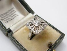 stunning 1920s square-shaped Art Deco diamond ring (650.00)
