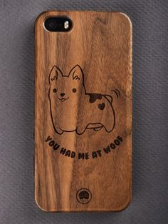 Buy You Had Me At Woof Engraved Wooden Smartphone Case Online for Bombay Trooper, Wooden Phone Case, Laser Engraving, Smartphone, Iphone Cases, Accessories, Iphone Case, I Phone Cases, Jewelry Accessories