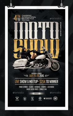 Motorcycle Show Flyer PSD Template  • Only available here ➝ http://graphicriver.net/item/motorcycle-show-flyer-template/16730193?ref=pxcr