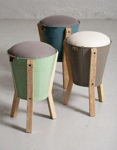 Standworx Kruk Bucket Stool: Jardine Decoration, Interiors, Diy Decoracion, Furniture Diy, Stoolsstoolsgreat Ideas, Upcycled, Furniture Decoration, Buckets Stools, Sgabelli Bucketstool