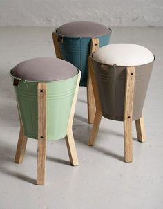 Standworx Kruk Bucket Stool: Jardine Decoration, Interiors, Diy Decoracion, Furniture Diy, Stoolsstoolsgreat Ideas, Upcycled, Furniture Decoration, Buckets Stools, Sgabelli Bucketstool:
