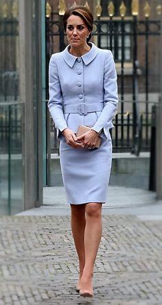 Love the Light Blue & Peplum style suit