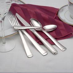 Lexington Design flatware is a modern style and makes a perfect wedding gift. made in USA Add it to your bridal registry today. via BuyDirectUSA.com